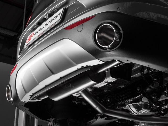 Colas de escape Alfa Romeo Stelvio (949) 2.0 Turbo Q4 (206kW) 2017- redonda 2 / 129 mm oblicuo en acero inox