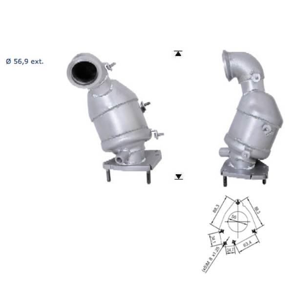 Recambio de Catalizador SAAB 9-3 1.9TD TID  150CV  (AN Magnaflow
