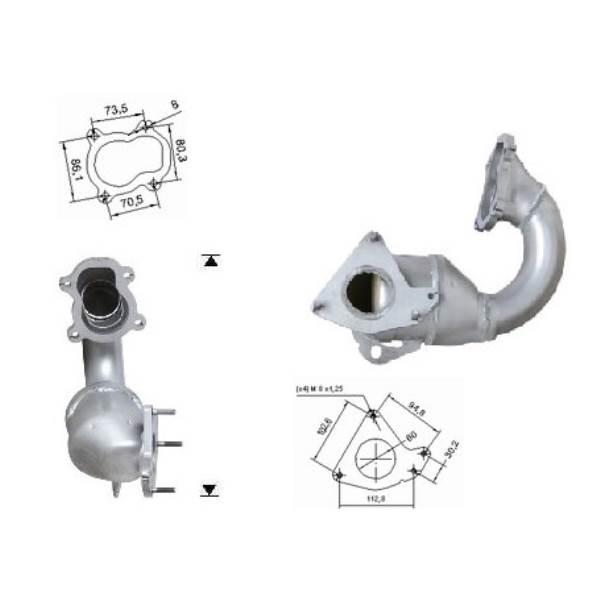 Recambio de Catalizador RENAULT MEGANE 1.9TD DTI 80CV Magnaflow