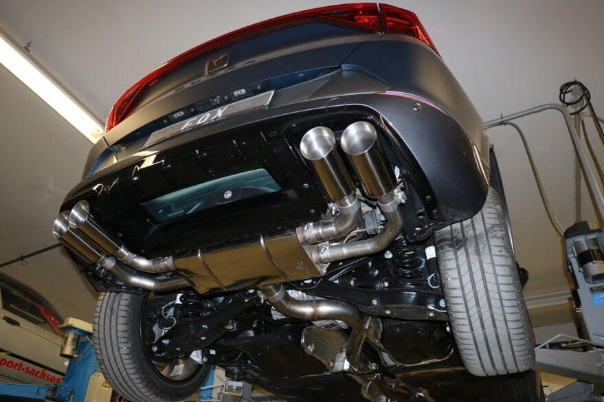 Catback escape deportivo Seat Cupra Formentor 4x4 2.0 310CV colas circulares 100mm Fox