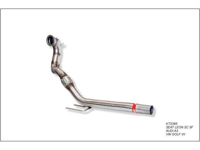 Downpipe con supresor de catalizador deportivo para Seat Leon SC 5F 1.4TSI 125CV 2014-