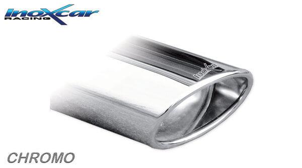 Escape Deportivo trasero Audi a3 8p 2.0tfsi (200CV) 05- 120x80mm oblique Inoxcar