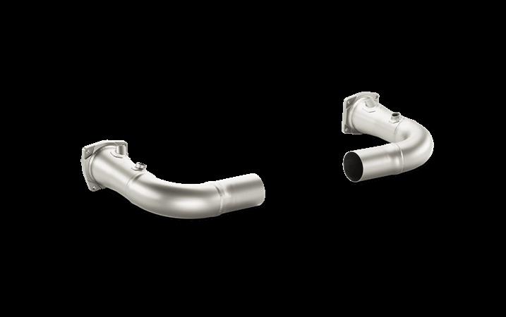 Tubo de union con escape Akrapovic sin catalizador (Titanio) Porsche 911 Turbo/Turbo S (991)