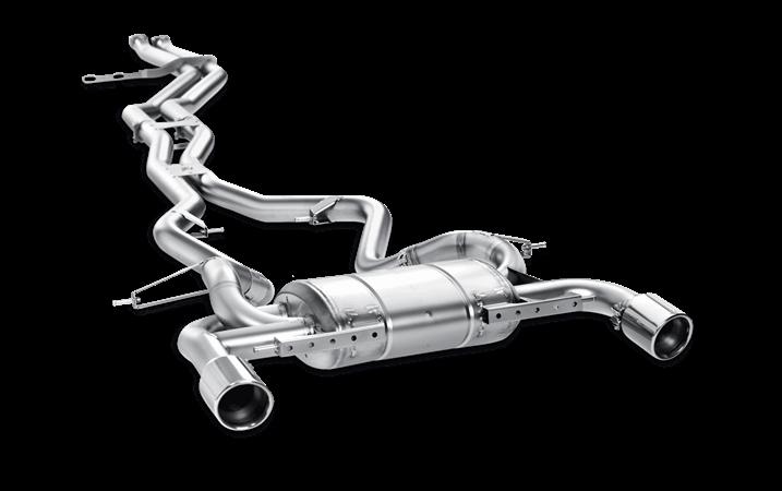 Linea de escape deportiva Akrapovic Evolution (Titanio) BMW 335i (E92)