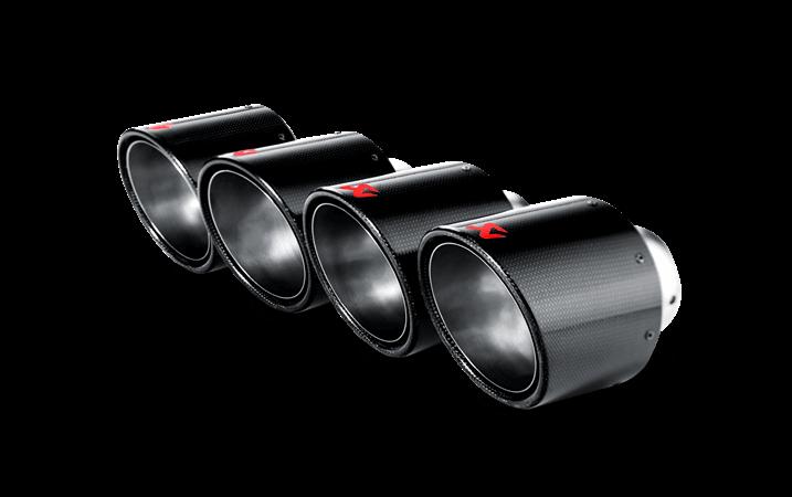 Kit de colas de escape Akrapovic (Carbono diametro 115 mm) Chevrolet Corvette ZO6/ZR1 (C6)