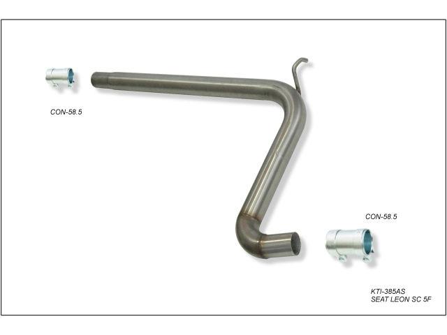 Escape deportivo tramo intermedio central sin silenciador para Seat Leon SC 5F 1.4TSI 150CV 2014-