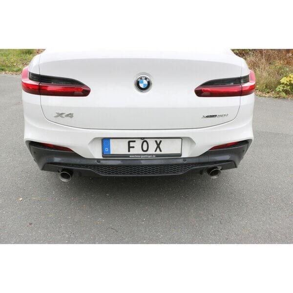 Escape final deportivo BMW X4 G02 30i 2.0 185kW / 252cv con salidas derecha e izquierda 100mm Fox