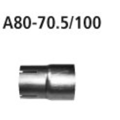 Tubo adaptador sistema completo al sistema de serie a 60.5 mm (320i) BMW Serie 3 F31 2.0l Turbo excepto Facelift Bastuck