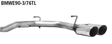 Juego tubos de salida doble dcha. 2x76 mm 20? cortado BMW Serie 3 E92 330d Coupe Bastuck