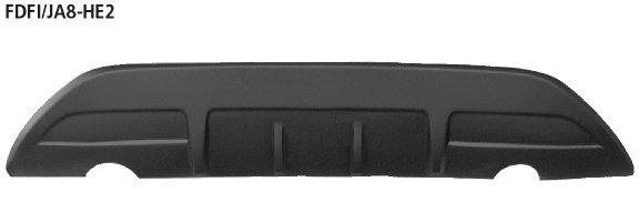 Difusor spoiler parachoques trasero, pintable, fiesta type ja8, evita cortar el faldon trasero original, tubo simple de salida izq.+dcha. Ford Fiesta JA8 (2008-) Bastuck