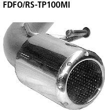 Tubo simple de salida 1x100 mm (diseno similar a instrumentos del audi tt) Ford Focus 1 RS ( 2002-2004) Bastuck