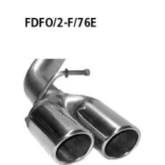Tubo doble de salida con labio, cortado 20?, 2x76 mm Ford Focus 2 Facelift (10/2007-) diesel con filtro de particulas ? 10/2007- Bastuck