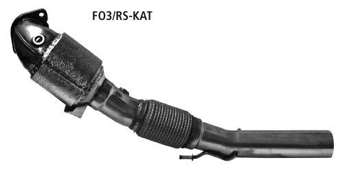 Catalizador deportivo 200 cpsi con aislamento integral y aprobacion de la ue Ford Focus 3 RS Bastuck