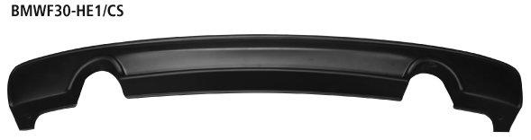 Difusor spoiler parachoques trasero con cortado 2xtubo simple de salida estilo carbono BMW Serie 3 F30 Diesel 6 cilindros Bastuck