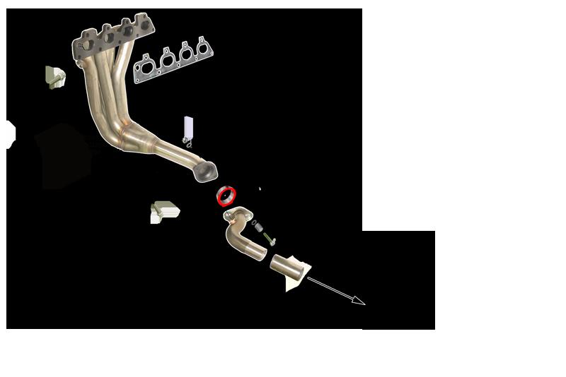 Kit Colectores de Escape para OPEL CORSA C 1.4I 16V 90CV 2000-