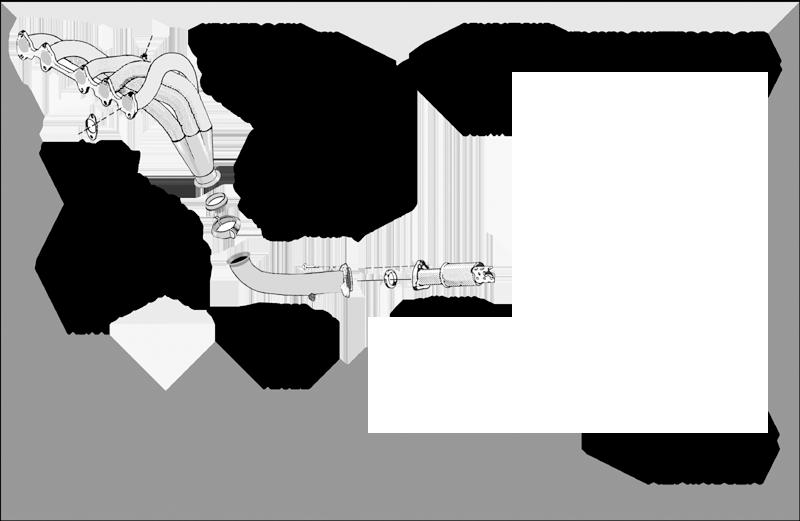 Kit Colectores de Escape para AUDI 80 2.2 KAT