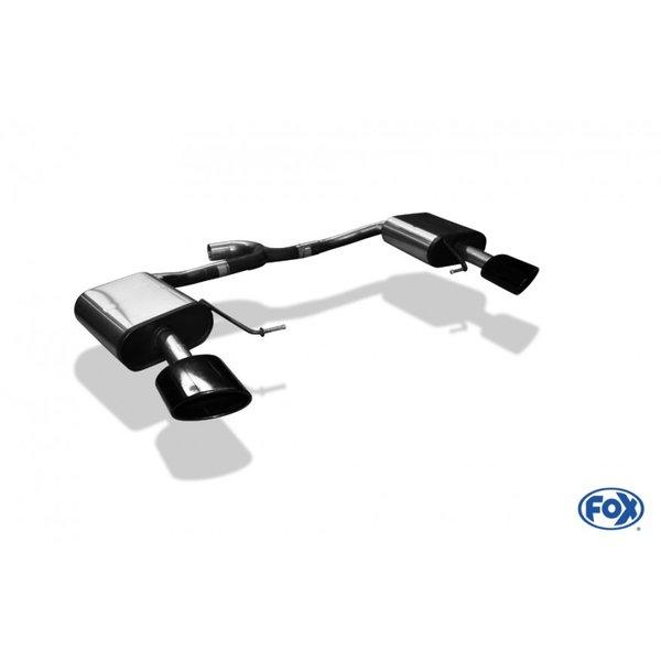 Escape final deportivo Seat Leon 5F ST Cupra 300 2.0 300cv colas ovaladas negras Fox