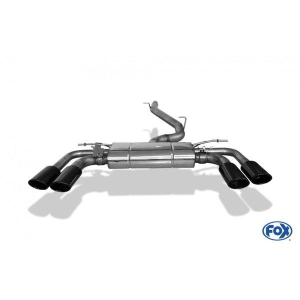 Escape Catback deportivo Seat ATECA CUPRA 4x4 2.0 300cv 2018- colas negras ovaladas 106 x71 Fox