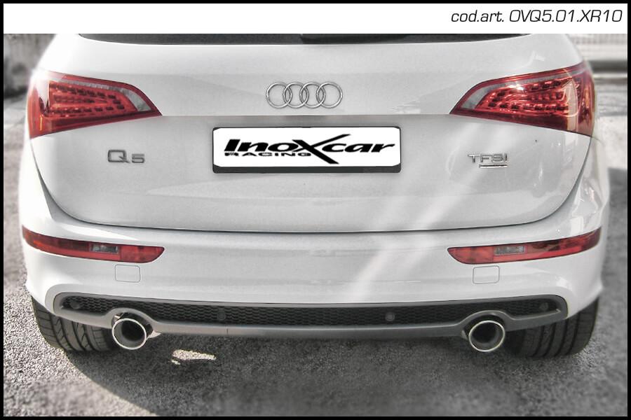 Escape Deportivo 1X100 X-RACE der+izq AUDI Q5 2.0 TFSi Quattro (180CV) 2010- Inoxcar