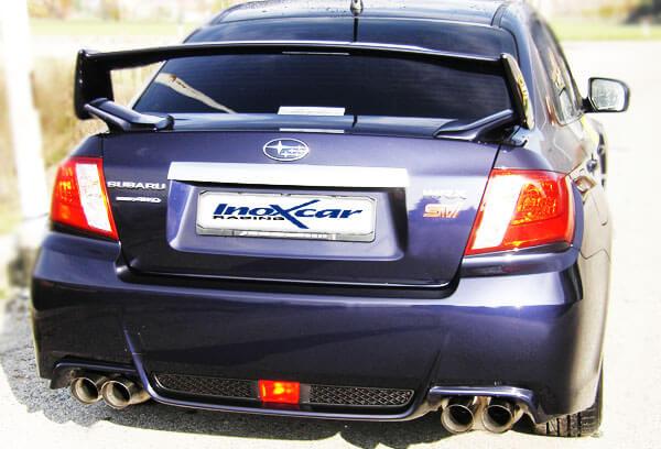 Escape Deportivo 2X90 RACING der+izq SUBARU IMPREZA 4WD 2.5T WRX STi 10MY (300CV) 2010- Homologado Inoxcar