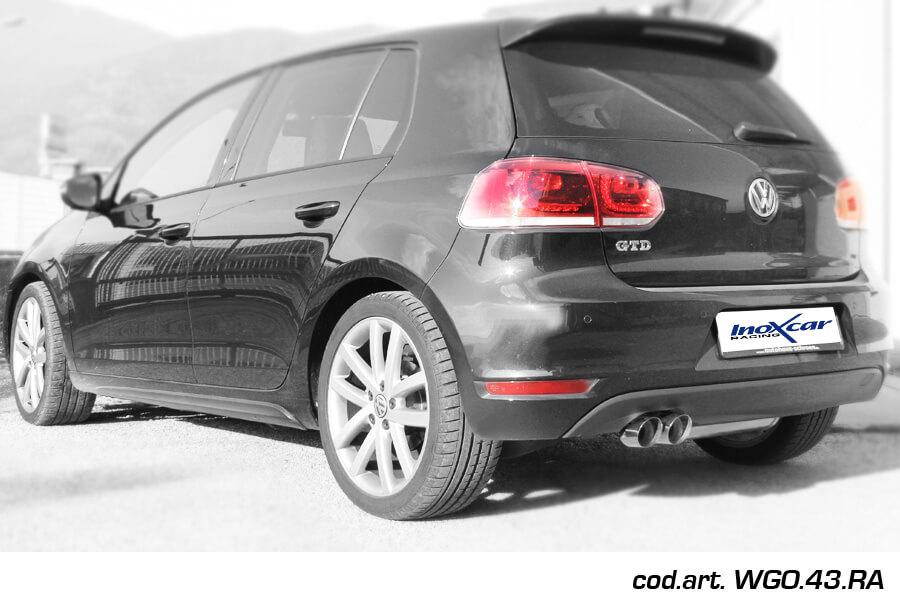 Escape Deportivo 2X80 RACING VOLKSWAGEN GOLF 6 2.0 TDI (170CV) GTD 2009- Homologado Inoxcar