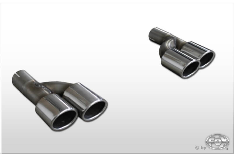 Colas terminales de escape Audi A4/ S4/ RS4 B7 B7/ 8H (2,0/ 2,4/ 3,0) 2,0l TFSI pair of tail pipes for screwing i57mm 2x88x74 Tipo 32 doble duplex derecho / izquierdo Fox