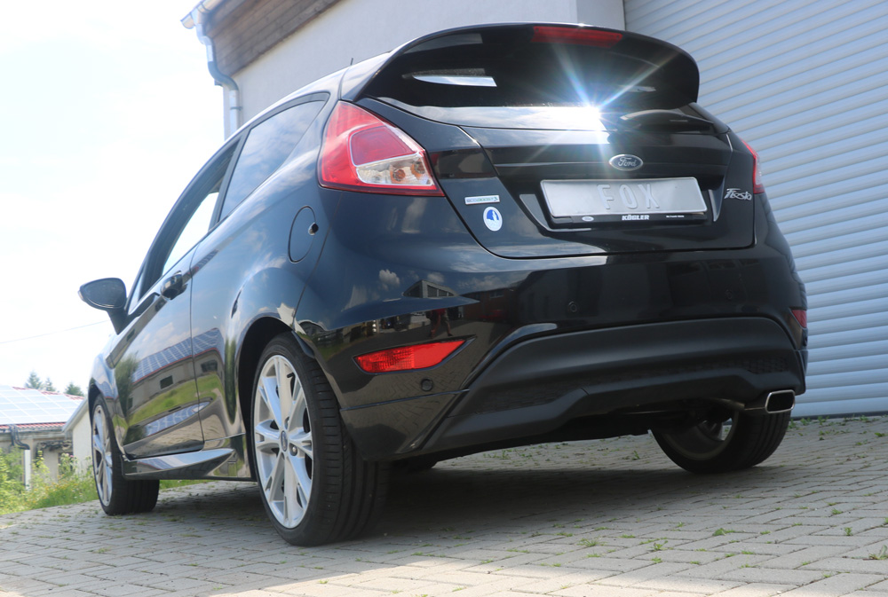 Escape final Ford Fiesta VII (from 2008) 1,6l 77/88kW Black/ Red Edition 1,6l 88kW final silencer Fox