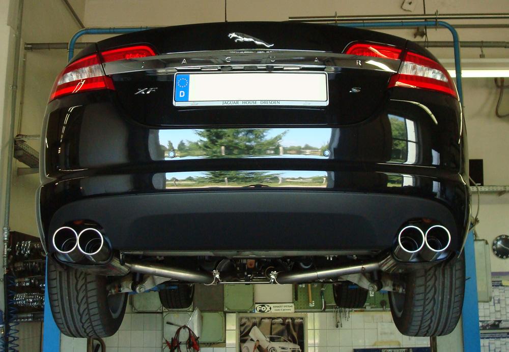Escape final Jaguar XF CC9 Facelift 2009 - Facelift final silencer doble duplex derecho / izquierdo 2x90 Tipo 16 doble duplex derecho / izquierdo Fox