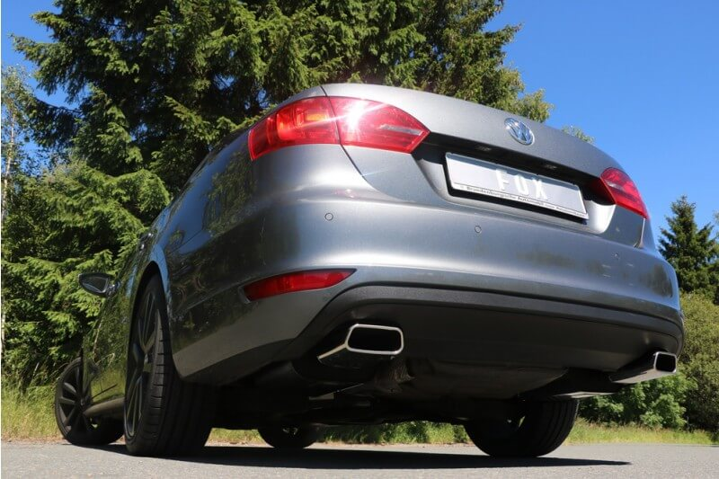 Escape final VW Jetta VI 1,8l 2,0l 147/155kW 2,5l 145x65 Tipo 59 doble duplex derecho / izquierdo Fox