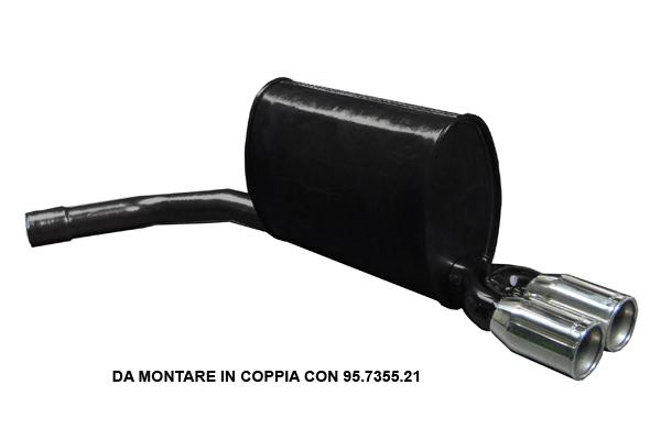 Escape Deportivo Asso Marmitte Mercedes E W211 E200 E240 E320 E270 Cdi E280 Cdi E320 Cdi 11/01 (**76)