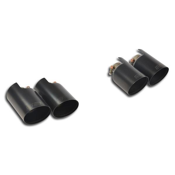 Colas de escape negras PORSCHE MACAN S 3.0 TDi V6 250 cv