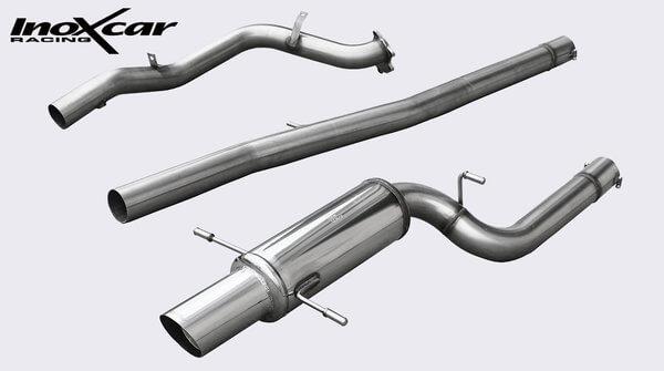Supresor Catalizador + Tubo Central + Escape Trasero 102r (76mm) Subaru Impreza 4wd 2.0 Sti Turbo (265cv) 02- Grupo N Inoxcar