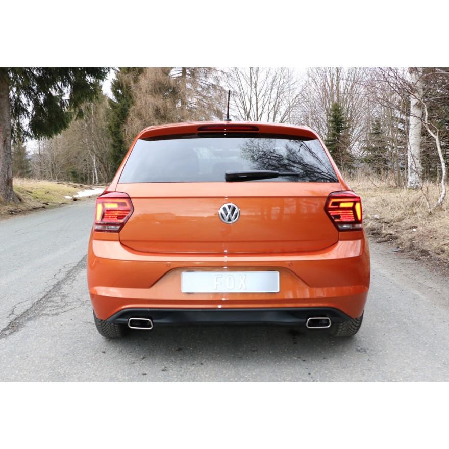 Escape deportivo doble duplex VW Polo AW1 1.0 95cv 2017- 145x65 type 59  Fox derecha izquierda