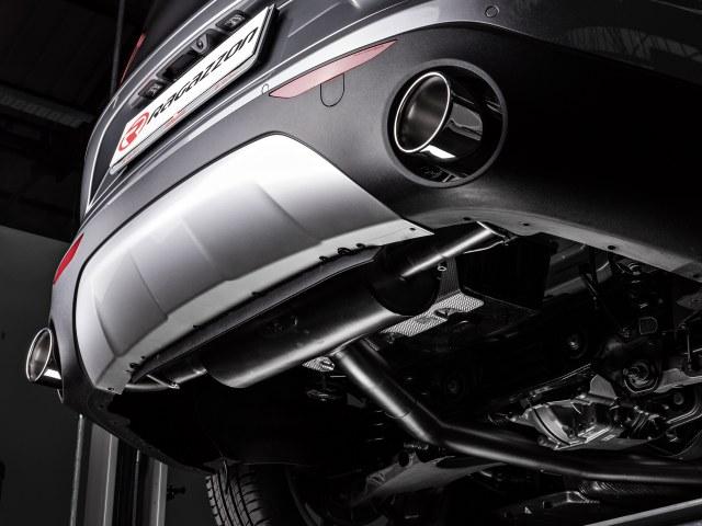 Colas de escape Alfa Romeo Stelvio (949) 2.0 Turbo Q4 (206kW) 2017- redonda 2 / 129 mm en acero inox
