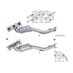 Recambio de Catalizador BMW X3 2.5Si 218CV (ANT) Magnaflow