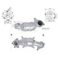 Recambio de Catalizador HONDA FR-V 2.2 Cdti  140CV   ( Magnaflow