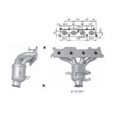 Recambio de Catalizador PEUGEOT 407 2.2i 136CV (ANT) Magnaflow