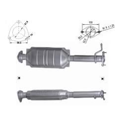 Recambio de Catalizador LANCIA LYBRA 2.4JTD   140CV Magnaflow