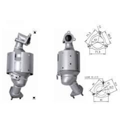 Recambio de Catalizador MAZDA MPV 2.0TD   136CV  (ANT) Magnaflow