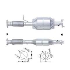 Recambio de Catalizador ROVER 45 2.0I V6 150CV (POST) Magnaflow