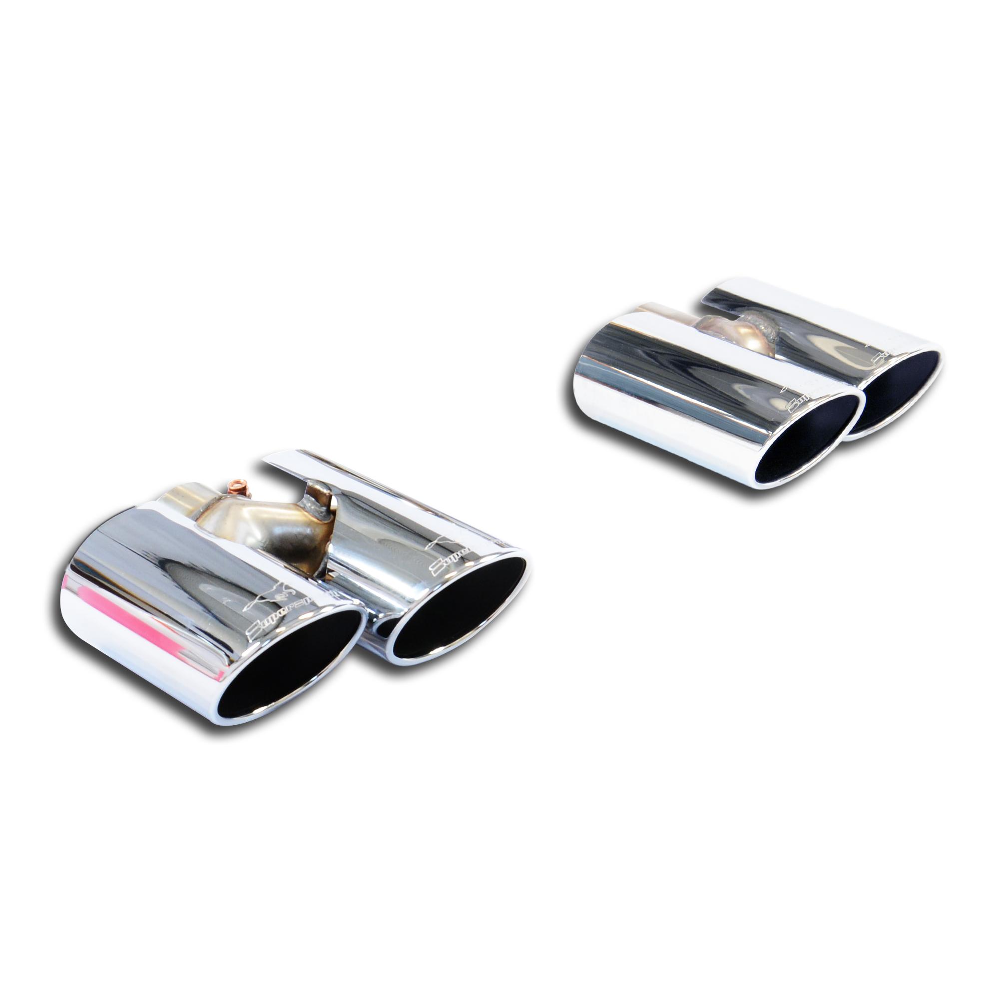 Kit 4 colas duplex doble de escape Derecha - Izquierda 120x80 AUDI TT Mk3 2.0 TFSI Quattro (230 Cv) 2015- Supersprint