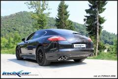 Escape deportivo final con silenciador con colas 2x90- Race D-I Porsche Panamera 4S 4.8 400 CV Inoxcar