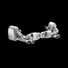 Linea de escape deportiva Akrapovic (Titanio) Porsche 911 Carrera Cabriolet /S/4/4S/GTS (991)