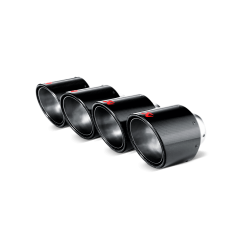 Kit de colas de escape Akrapovic (Carbono diametro 115 mm) Chevrolet Corvette ZO6/ZR1 (C6)