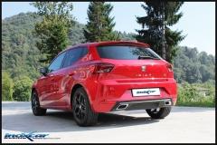 Escape deportivo trasero sin silenciador para Seat Ibiza  KJ 1.5 FR (150cv) 2017- Inoxcar