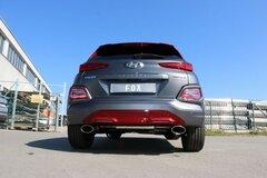 Escape final deportivo Hyundai Kona 1.6 177cv /130Kw con colas ovaladas 160x90mm traccion delantera
