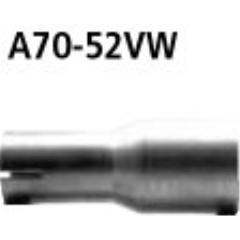 Tubo adaptador escape final + tubo de conexion al sistema de serie a 52.0 mm Alfa Romeo 156 1.8l incl. GTA Bastuck