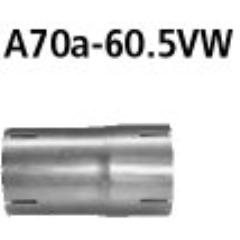 Tubo adaptador catalizador de rendimiento primero y segundo en el sistema estandar a 60.5 mm Kia Sportage QLE 1.6l Turbo Bastuck