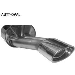 Escape deportivo final con tubo ovalado simple de salida 153x95 mm Audi TT 8N excepto Quattro Bastuck