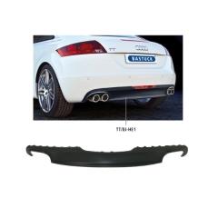 Difusor spoiler parachoques trasero, pintable 2xtubo doble de salida izq.+dcha., evita cortar el faldon trasero de serie Audi TT 8J 1.8l Bastuck